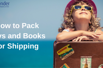 pack toys and books for shipping