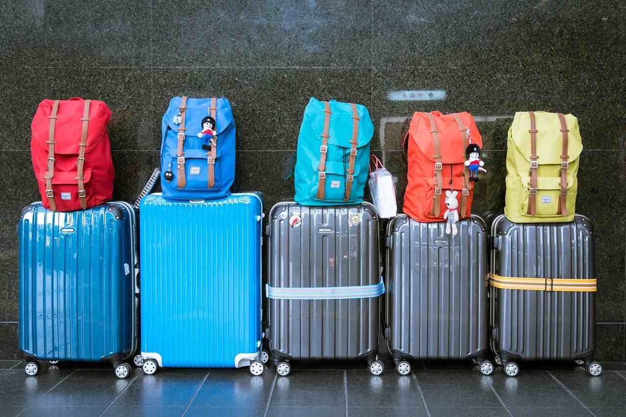 Consignee on holiday with luggage