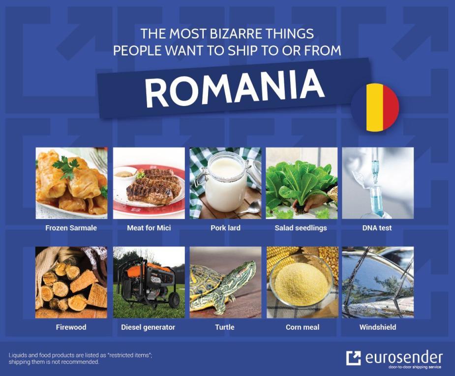 bizarre shipments to Romania