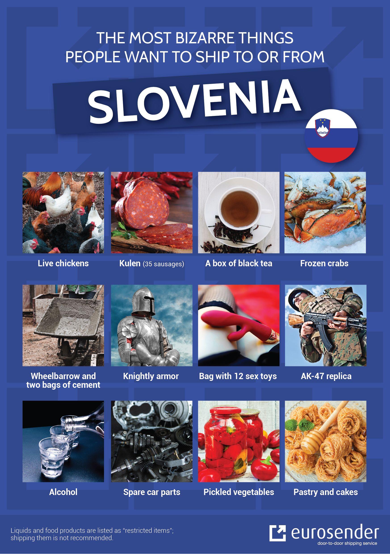 bizarre shipments to Slovenia
