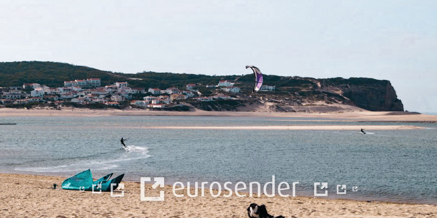 kite surf in obidos lagoon