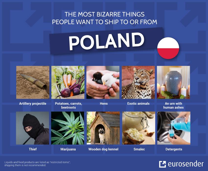 Bizarre shipments Poland