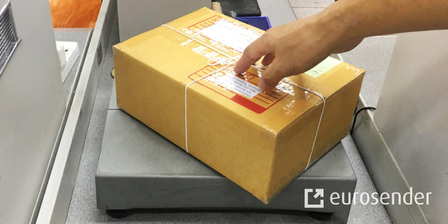 Weight of a package