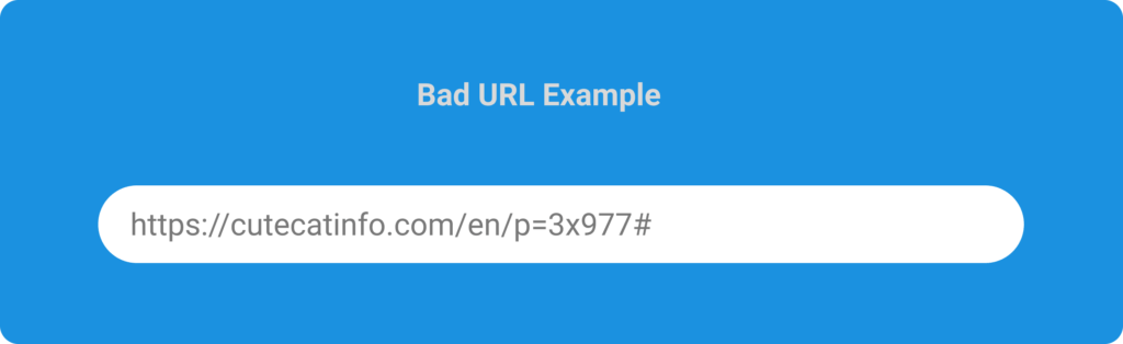 A bad example of URL with dynamic attributes that makes no sense