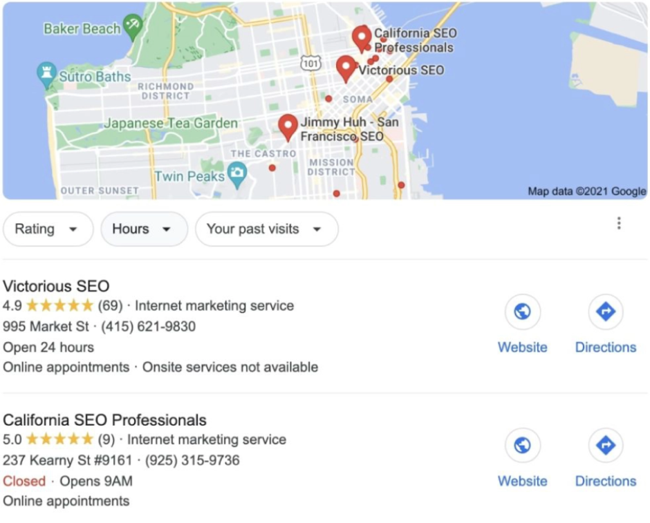 Google My Business Report View