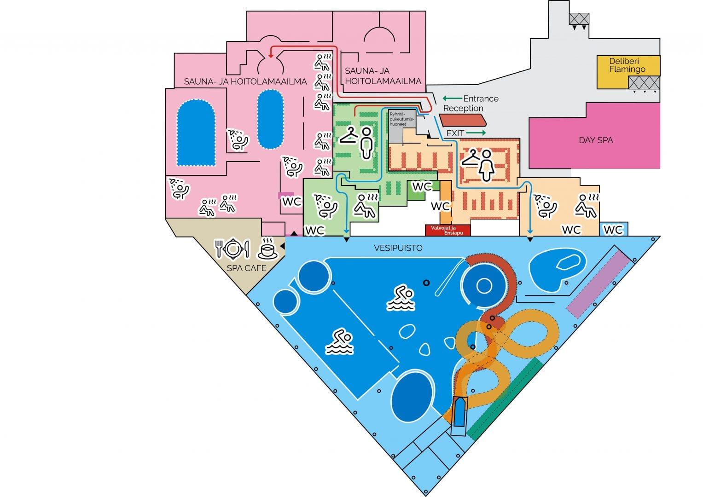 Flamingo Spa pohjakartta