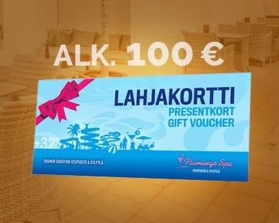 Lahjakortti alkaen 100 euroa