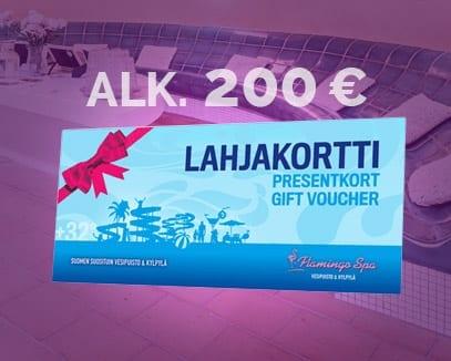 lahjakortti alkaen 200 euroa