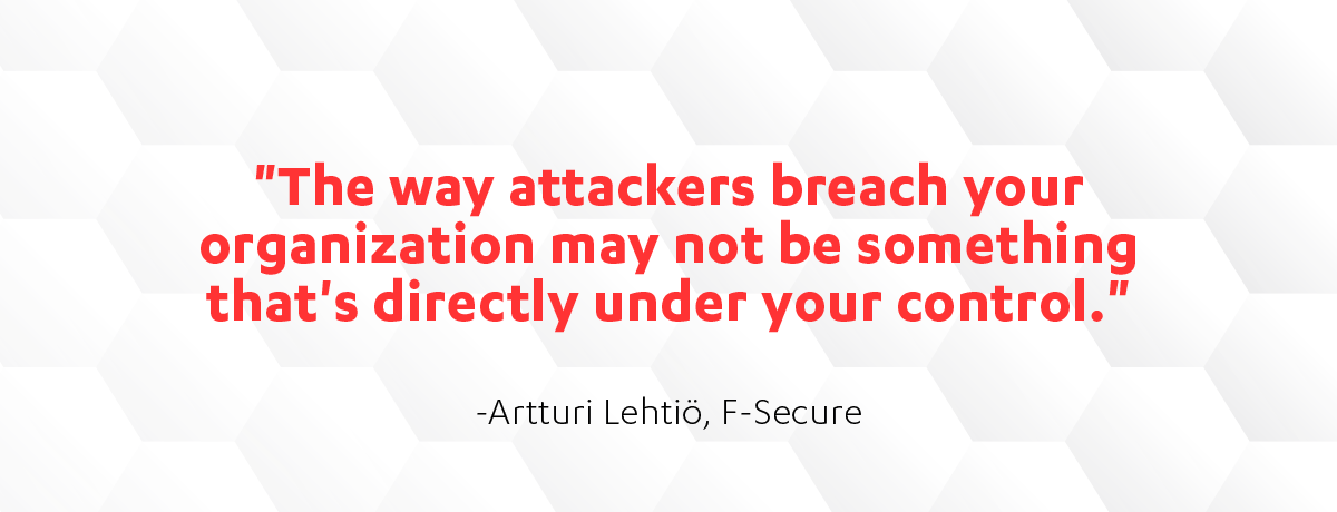 Artturi Lehtio quote on Cyber Security Sauna