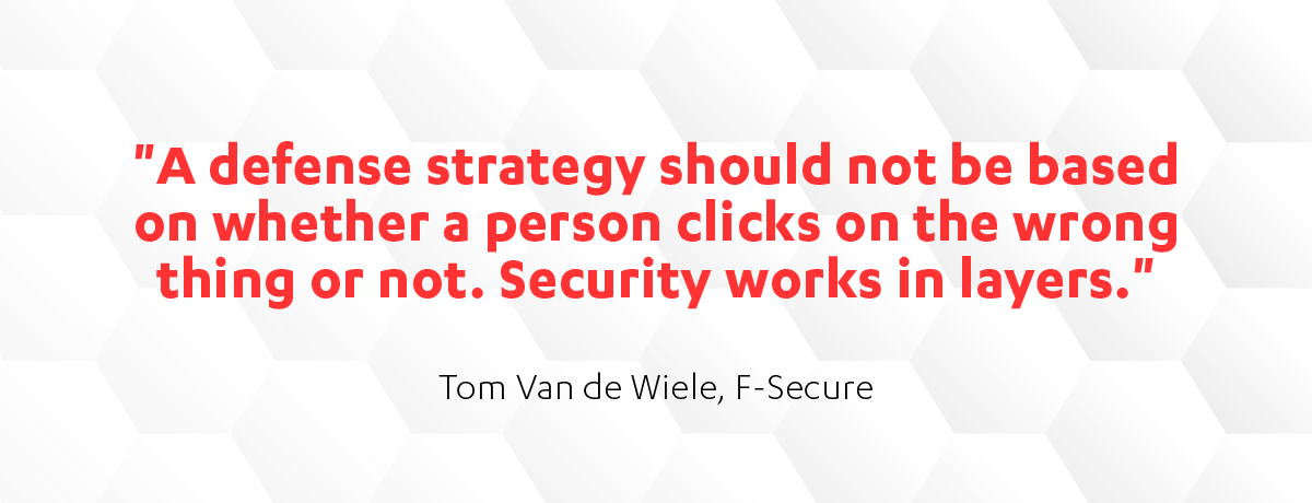 Tom Van de Wiele cyber defense strategy