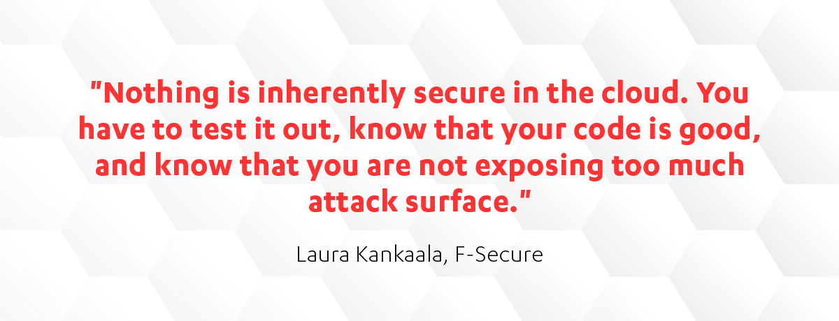Laura Kankaal on cloud security