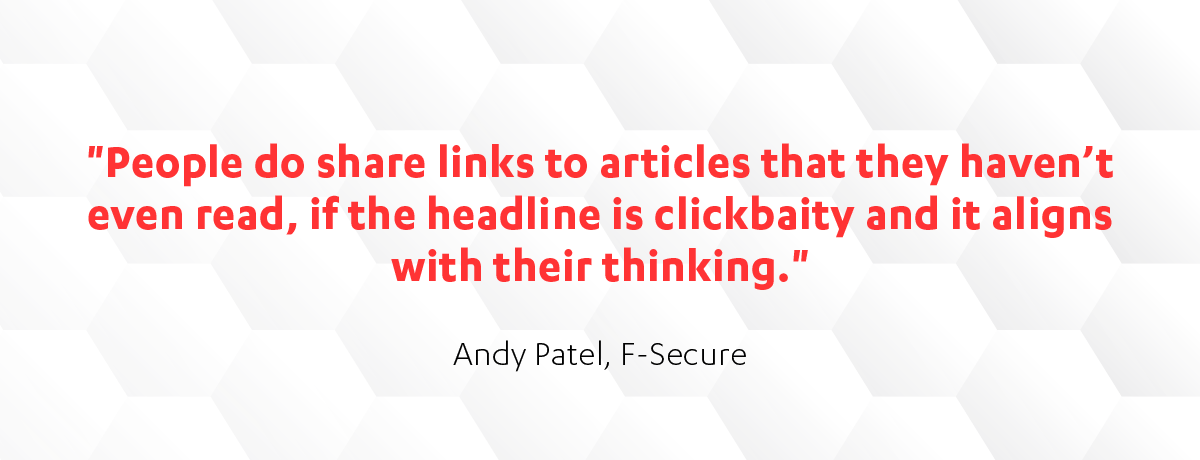 Andy Patel on the spread of misinformation