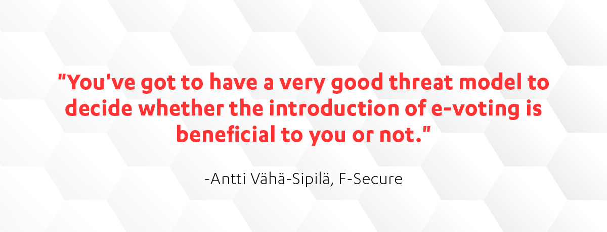 F-Secure's Antti Vaha-Sipila on e-voting