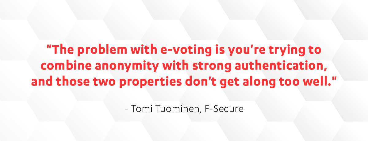 F-Secure's Tomi Tuominen on e-voting