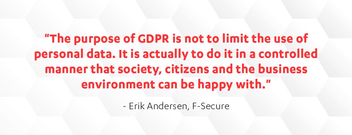F-Secure's Erik Andersen on GDPR