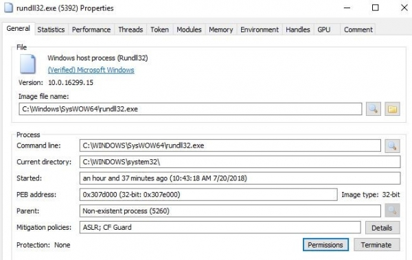 Library Files rundll32 exe properties