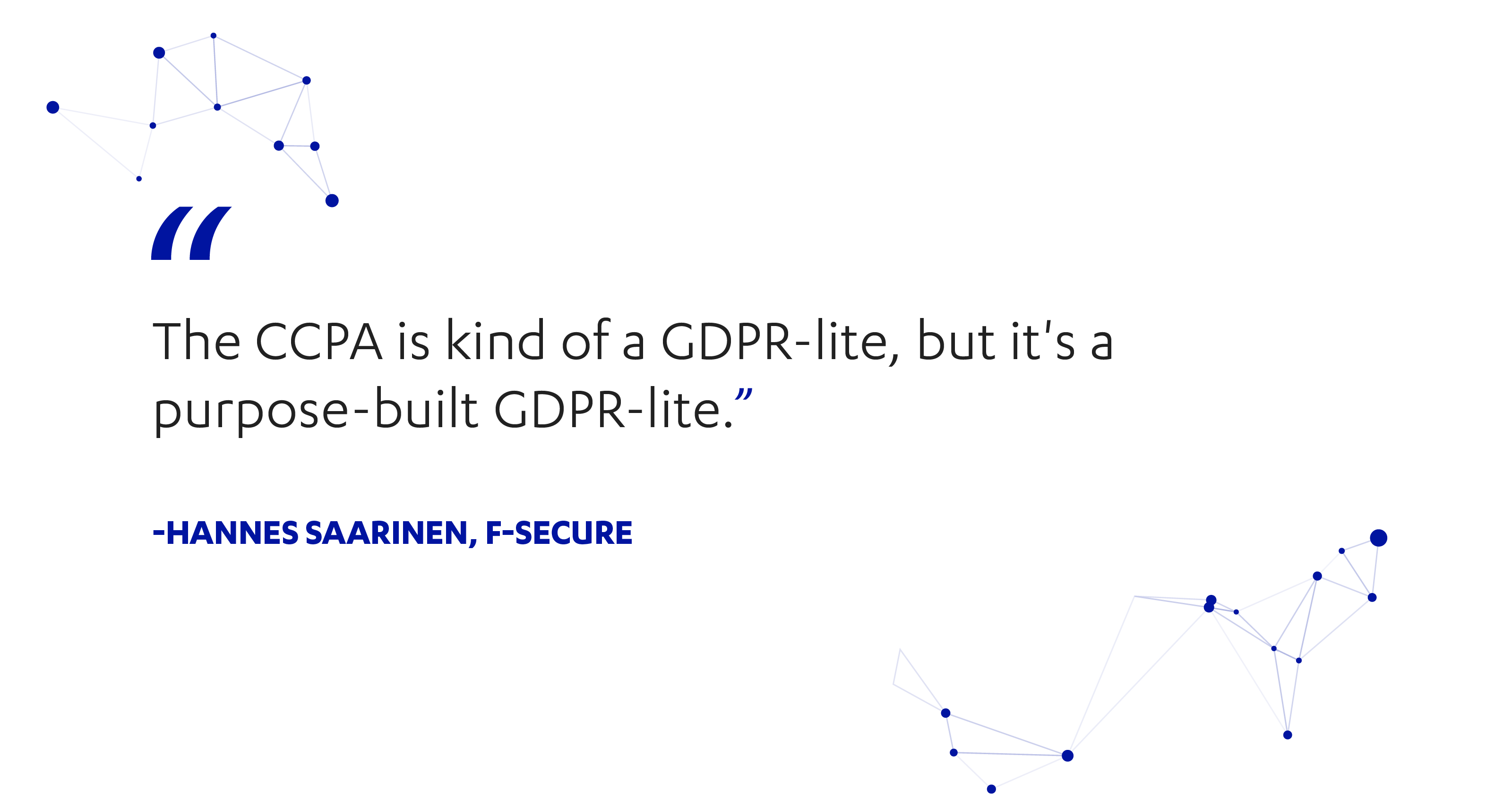 F-Secure's Hannes Saarinen on CCPA and GDPR