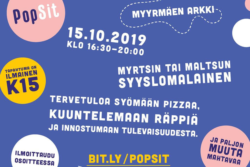 Kutsu PopSit-tapahtumaan: Se mikä on mahdollista heille, on myös sinulle