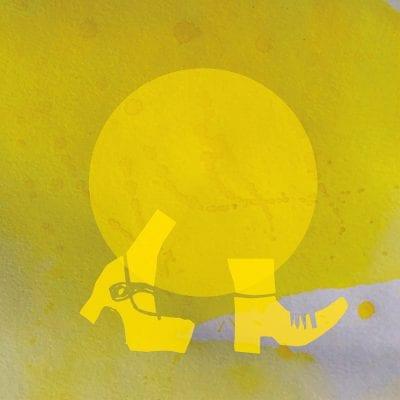 Keltaiset kengät kannattavat keltaista palloa.