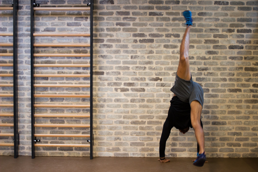 Handstand One Leg Kick Wall