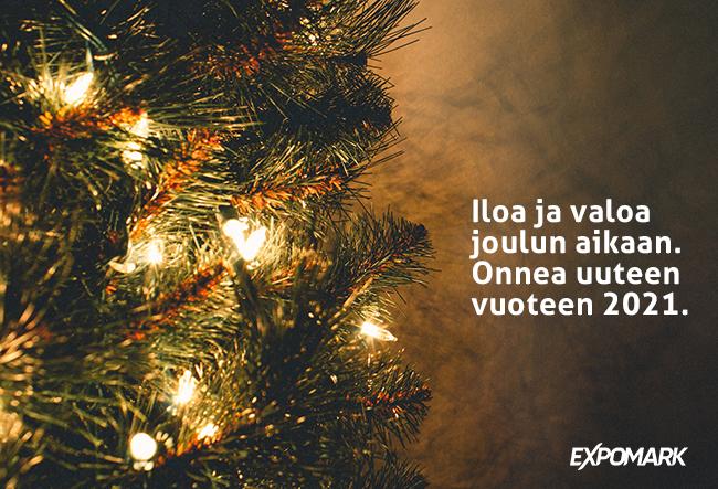 Expomark joulukortti 2020
