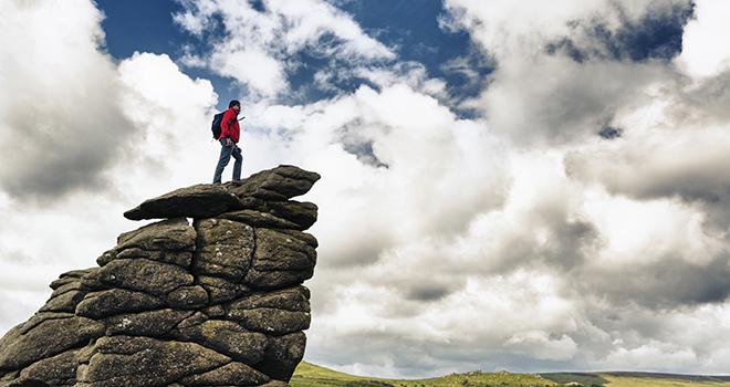 Meillä on ratkaisu -blogi, kuvassa vuorenvalloittaja