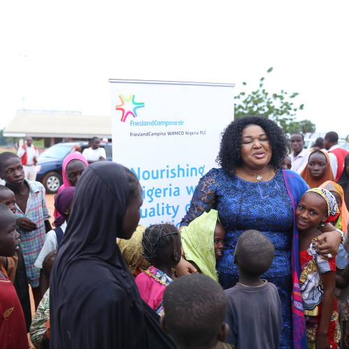FrieslandCampina WAMCO partners with Nigerian Red Cross with milk supplies for IDPs