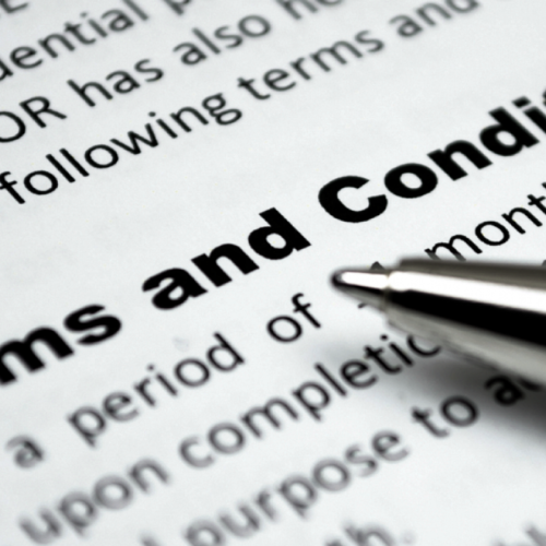 Get acquainted with the Company's terms and conditions