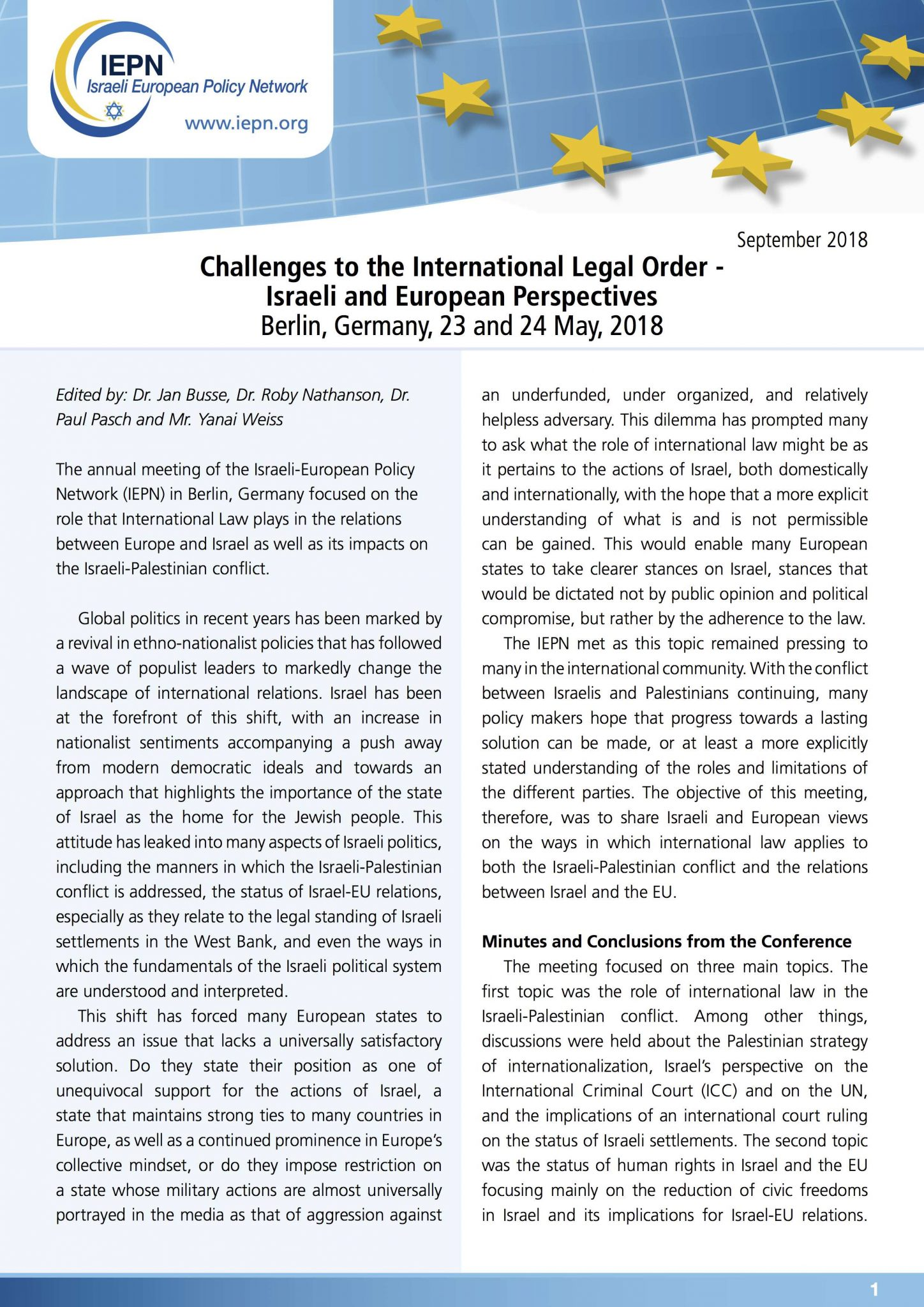 Challenges to/from the International (Legal) Order: Israeli