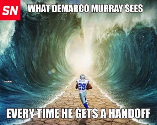 what demarco murray sees every time he gets a handoff