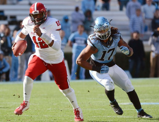 Jacoby Brissett running at UNC. Photo by Getty Images