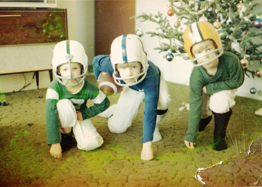 The First Football Uniforms - Christmas 1970