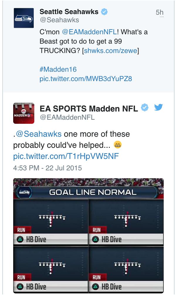 EA Sports Seahawks meme