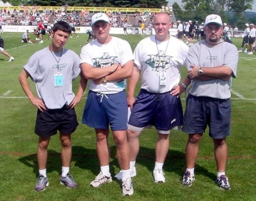 Слева направо - Марат Липатов, Дмитрий Максимов, Виктор Скапишев, Василий Добряков на стажировке в США