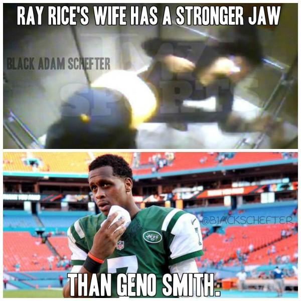 Ray rice geno smith meme