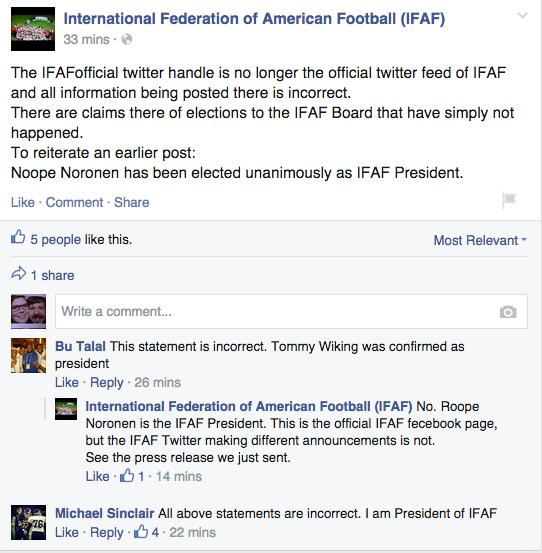 Дискуссия на странице ИФАФ в Фейсбуке