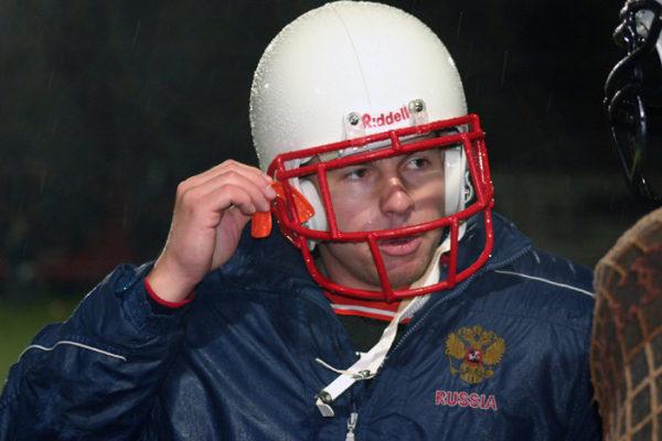 Евгений Чехов, чемпион Европы // Фото: americanfootball.ru