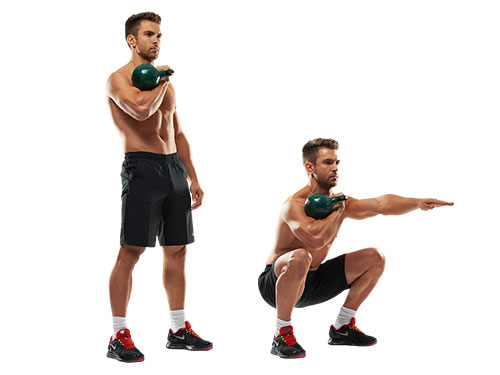 kettlebell-front-squat