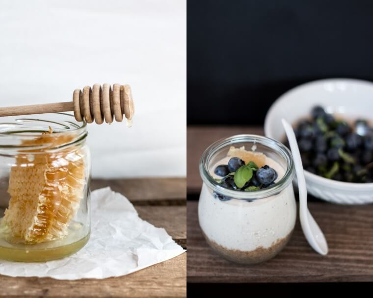Blueberry Goat Cheesecake Jars | Heidelbeer Cheesecake im Glas {flowers on my plate}