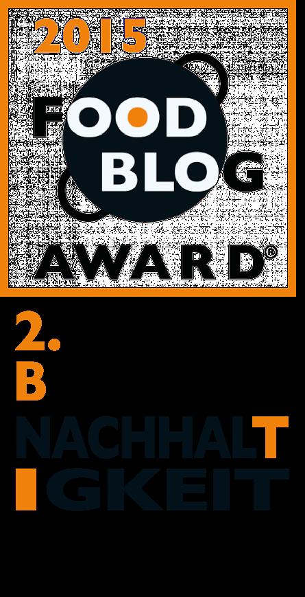 Award Bester Foodblog Nachhaltigkeit