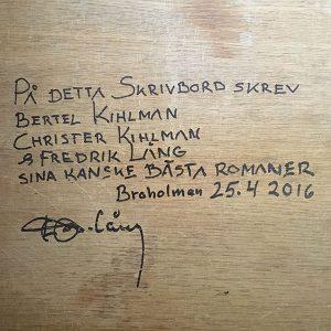 Christer Kihlman skrivbord