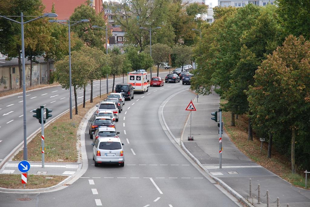 Reißverschluss Verkehr