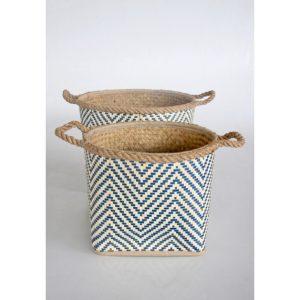 Water Hyacinth Palm Leaf Baskets