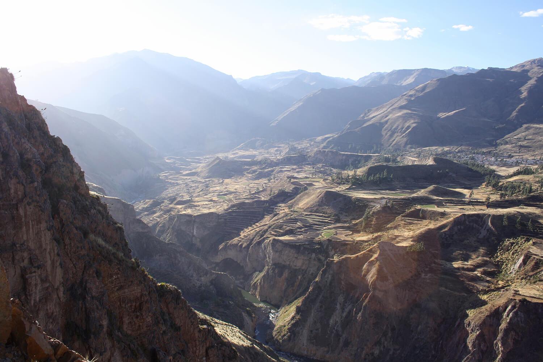 Canyon Landschaft in Peru.