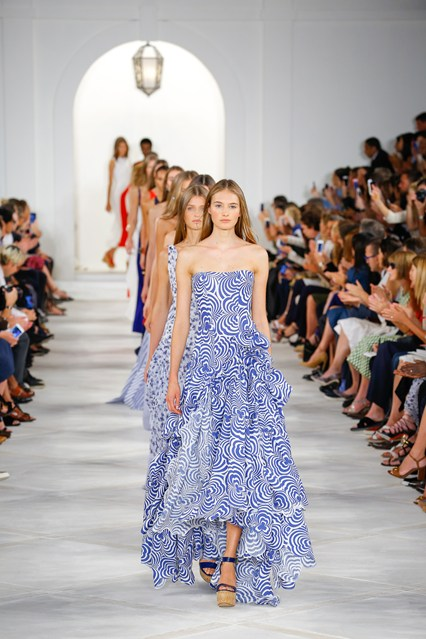 IT was a combination of the French Riviera and Paris in springtime that  played out on the Ralph Lauren catwalk today – with Julianne Moore 1865c146878a