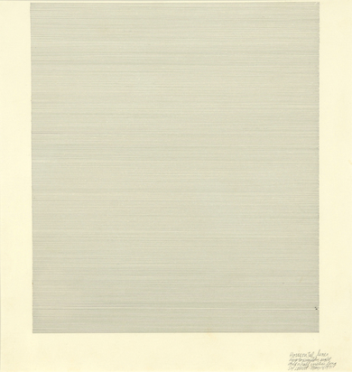 LeWitt Sol, Horizontal Lines Approximately Eight and a Half Inches Long
