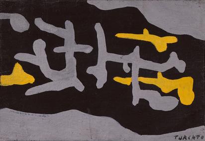 Turcato Giulio, Composizione in nero e oro