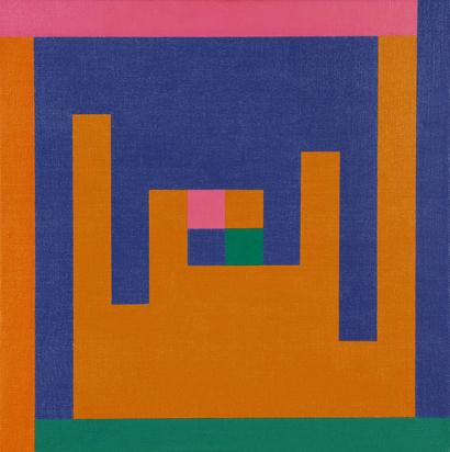 Lohse Richard Paul, Verbindung von kontrastierenden Farbformen, 1952/66
