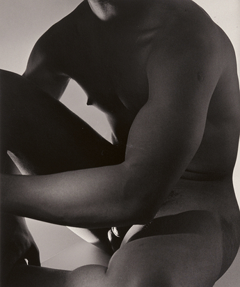 Horst P. Horst, Male Nude, Frontal II, N.Y. 1952
