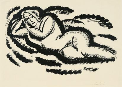 Jawlensky Alexej von, Reclining female nude III